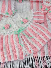 Rosebud Layette Crochet Pattern Pack