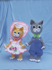 Sunbonnet Kitty & Overall Cat