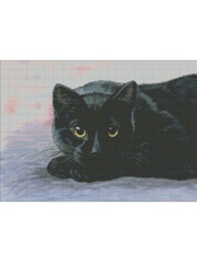 Golden Eyes Cross Stitch Pattern