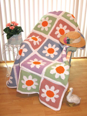 Flower Patch Afghan Pattern Pack