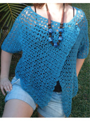 Blue Wrap Cardigan