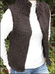 Super Bulky Winter Vest Knit Pattern