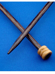 "Laurel Hill Forest Palm 10"" Straight Knitting Needles"