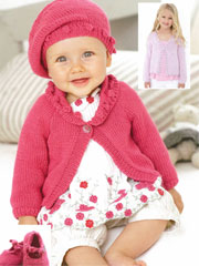 Baby Cardigan, Beret & Shoes Knit Pattern