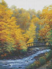 Autumn Stream Cross Stitch Pattern