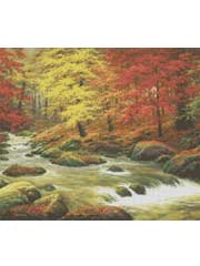 Autumn in Boulder Creek Cross Stitch Pattern
