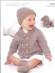 Snuggly Jacket, Helmet, Hat & Booties Knit Pattern