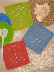 Beach Days Knit Dishcloths