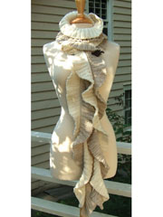 Twirling Leaf Scarf Knit Pattern