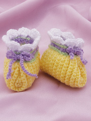 Super Simple Baby Booties