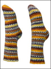 Easy Toe-Up Socks Knit Pattern