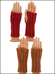 Two-Way Fingerless Gloves Knit Pattern