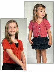Girl's Smocked Cardigan Knit Pattern