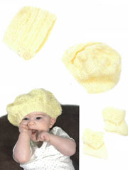 Baby Hats & Booties Knit Pattern