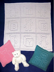 Baby Bear Blankie & Pillow Pattern Pack