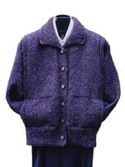 Vertical Panel Bulky Jacket Knit Pattern
