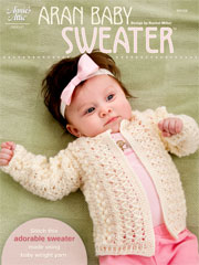 Aran Baby Sweater Crochet Pattern
