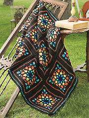 Stained Glass Afghan Crochet Pattern
