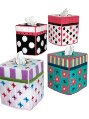 Trendy Tissue Toppers Plastic Canvas Pattern Pack