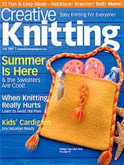 Creative Knitting July 2007