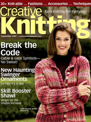 Creative Knitting September 2007