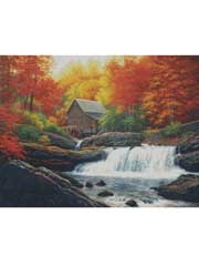Glade Creek Grist Mill Cross Stitch Pattern