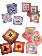 Quilted Kitty Coaster Sets Pattern Pack