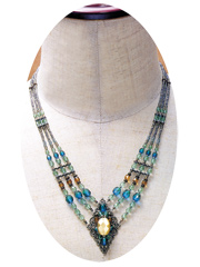 Diamond Motif With Cat's Eye Necklace Kit
