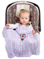 Infant Knitted Take-Along Covers Knit Pattern