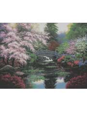 Bridge of Tranquility Cross Stitch Pattern