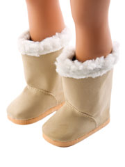 "Sherpa Trim 18"" Doll Boot"