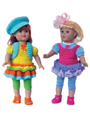 "Trendy Tweens Styles for 18"" Dolls Crochet Pattern"