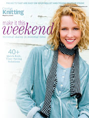 Make It This Weekend: Minimal skeins in minimal time Spring 2012