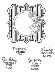 Framed Greetings Stamp Set