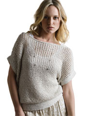 Bridal Veil Mesh Top Knit Pattern
