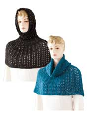 Hooded Ponchos in Crochet & Knit Pattern