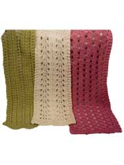 Barbara, Ruth & Leona Easy Lace Scarves Knit Pattern
