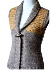 Freeport: Shawl Collar Vest Knit Pattern