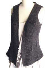 Rippling Ribs Vest Knit Pattern