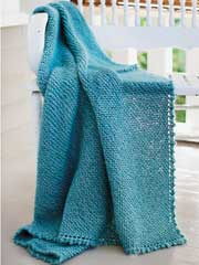 Picot Edge Mohair Blanket Knit Pattern