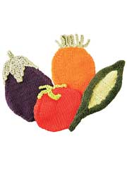 Veggie Pot Holders Knit Pattern
