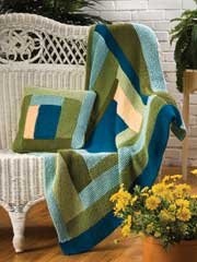 Log Cabin Blanket Knit Pattern