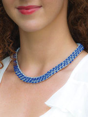 Tiffany Necklace Kit Silver and Sapphire