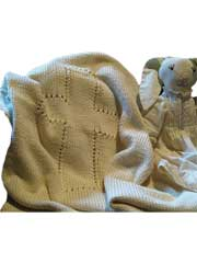 Lenten Rose Christening Blanket Knit Pattern