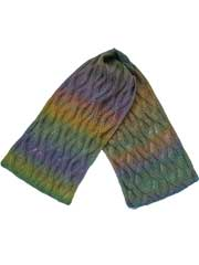 Morning Abstract Scarf Knit Pattern
