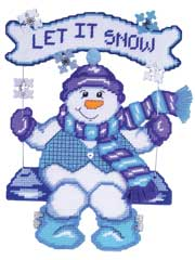 Swinging Snowman Plastic Canvas Kit