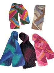 Color Splash Scarves Crochet Pattern
