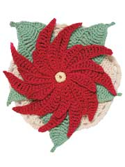 Poinsettia Table Mat Crochet Kit