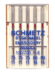 Embroidery Red Band Needles - 5/pkg.