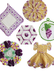 Vintage Purple Potholders Pattern Pack